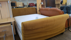 ExcellentKingsize sleigh bed frame with mattress excellent condition