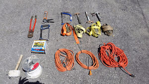 Assorted Hand Tools, Extension Cords and Ratchet Straps