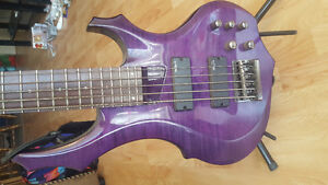 5 string ESP LTD bass. Active pickups and accessories
