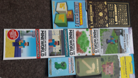 FANTASTIC BUNDLE OF MINECRAFT BOOKS AND PUZZLE BOOKS