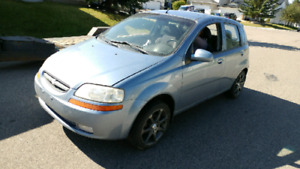 2007 CHEVY AVEO FOR PARTS OR FOR REPAIR ACTIVE TITLE