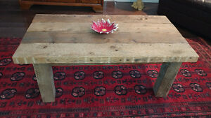 Reclaimed and salvaged solid barn wood coffee table Kitchener / Waterloo Kitchener Area image 5