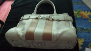 Coach purse- newly new- Swagger sachel- beige canvas & leather