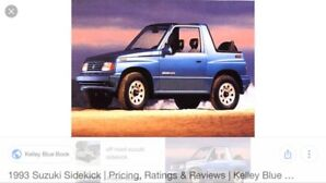 WANTED SUZUKI SIDEKICK/TRACKER/VITARA