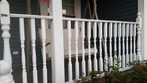 DECK BOARDS, RAILING AND SPINDLES
