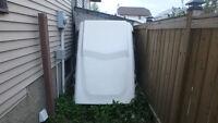 White Fiberglass topper ~72x56