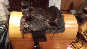 Western saddle $250 firm