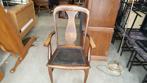 Antique Oak Claw Chair London Ontario image 1