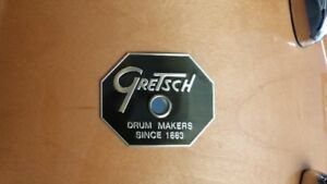 "Gretsch natural 9 x 13 tom, ""Stop sign"" badge, brand new"