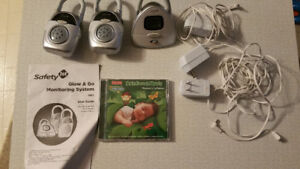 Safety 1st Baby Monitor and Lullabies CD.
