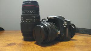 Pentax K100 + SMC Pentax DA 18-55mm et Sigma 70-300mm