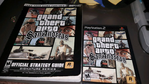 Grand Theft Auto San Andreas Ps2 with Strategy guide
