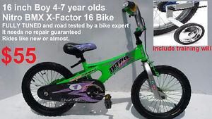 """5-7 year old Boy Bike 16"""" tires / 3-5 year old Boy Bike 12"""""""