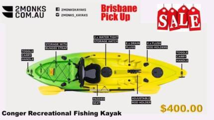 2Monks Brisbane Kayaks 3M 1Seater Conger (On Sale)