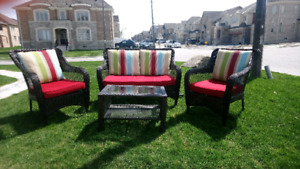 Resin Patio Set in like new condition