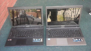 Two broken ASUS laptops for sale