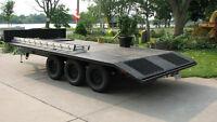 24 ft  X 7.5 FT WID HEAVY DUTY STEEL CAR, TRUCK, BACKHOE, BOBCAT