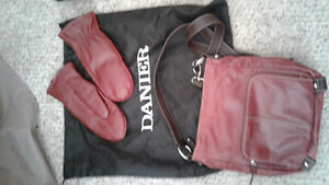 Red Danier leather purse and leather mitts Belleville Belleville Area image 2