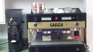 GAGIA Commercial Espresso Machine 2 Group with Automated Grinder