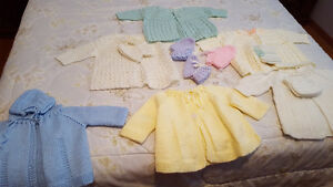 Hand Made Baby Coat and Blanket - One of a Kind