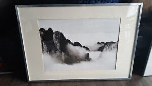 Black and white picture in Ikea frame