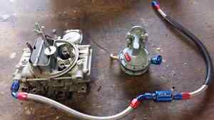 Holley 650,  Edelbrock fuel pump and braided line