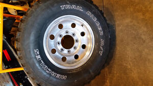 """16"""" Ford Superduty Rims with Hercules Trail Diggers"""