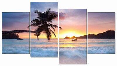 Present-day Tons Sea Lakeshore Canvas Prints Photograph Framed 4 Panels Stockade drive crazy Art Accommodation Decor
