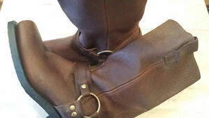 Women's Brown Leather Boots - Size 8.5 - Brand New, Never Worn!