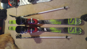 Skis, boots and poles - child set