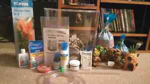 3 gallon fish tank with accessories