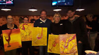 Enjoy a night of paint entertainment at your location and time