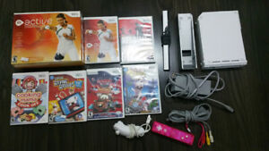 Wii and controller with Games