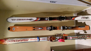 Downhill and Telemark skis