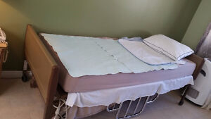 Semi-Electric Hospital Bed with Mattress Windsor Region Ontario image 1