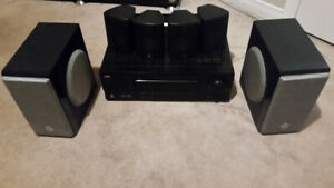 FULL STEREO SYSTEM ( JVC RX-5030V 5.1 AV Receiver + 6 Speakers )