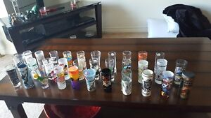 Large collection of shot glasses from around the world