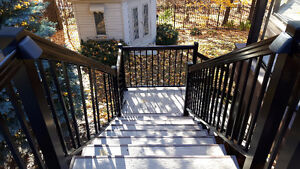 Deck components glass rail spindles stair aluminum columns Oakville / Halton Region Toronto (GTA) image 3