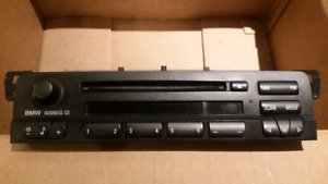 BMW E46 OEM AUX capable Business CD radio.