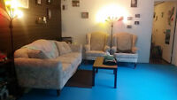 Mod- Antique Couch and 2 wing back chairs
