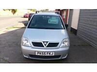VAUXHALL MERIVA 1.4 LIFE 5 DOOR IN SILVER LOW MILES ONLY £13 WEEK P/LOAN 55 REG