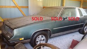 1981 Olds Cutlass Calais + 1987 T top parts car