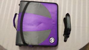 BRAND NEW Case-It DUAL 2-in-1 Zipper D-Ring Binder