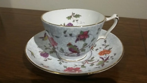 1911 Crown Staffordshire Fine Bone China Teacup Tea Cup Saucer