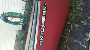 Used only 2 times Explorer dlx 14.5 foot canoe