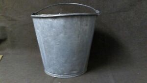 VERY, VERY OLD HEAVY GALV. PAIL