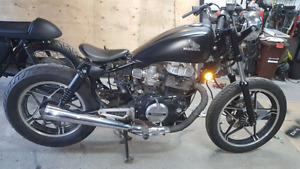 1983   Honda CB450 twin for sale bobber running and with papers