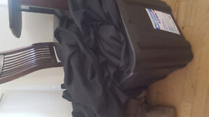 20 Round 6 foot black tablecloths