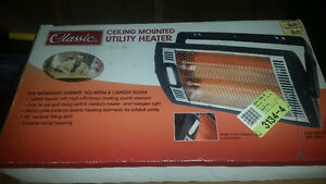 Electric utility heater