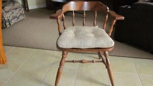 Solid Dark Wood Captain's Chair